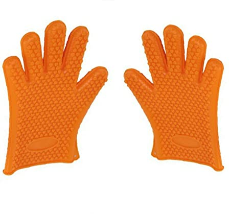 AplusRetail Heat Resistant Grilling Oven Gloves (Pair) - BBQ Cooking, Grilling, Baking