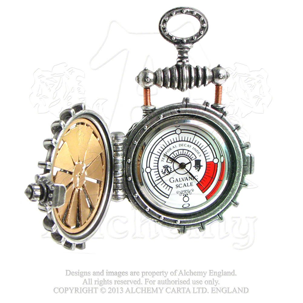 EER Patent Solar Powered Turbine Steampunk Fob Watch by Alchemy Gothic