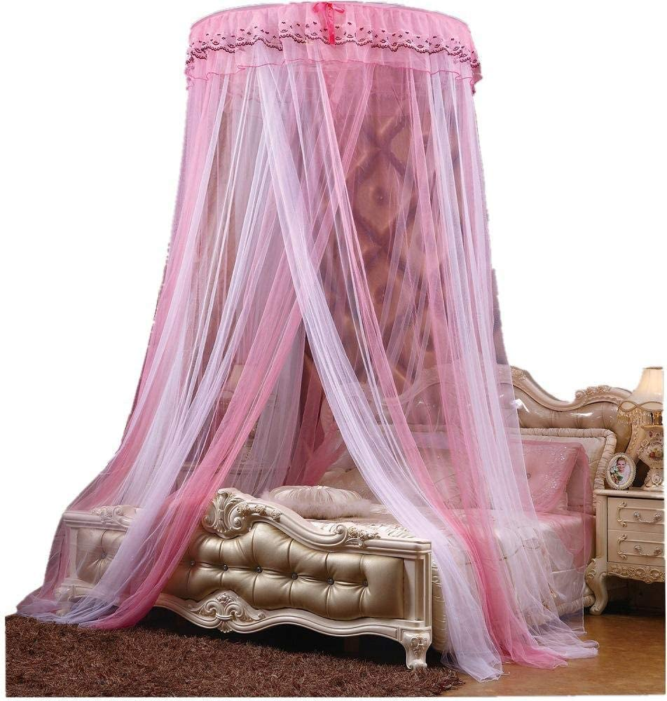 WUANNI Bed Canopy Curtain Mosquito Net Coverage,Dome double home encryption bed princess style-A/_1.0m