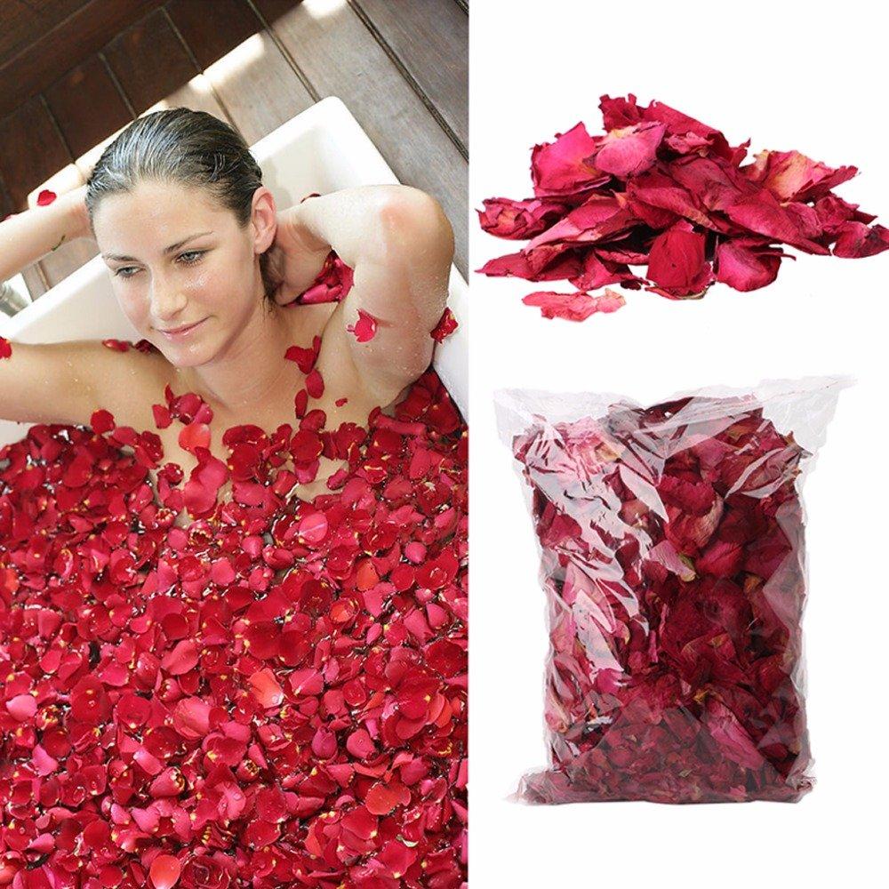 Bluelover Essiccato Petali Di Rosa Naturale Fiore Spa Sbiancamento Doccia Secco Rosa Naturale Fiore Petalo Bagno Alleviare Corpo Fragrante