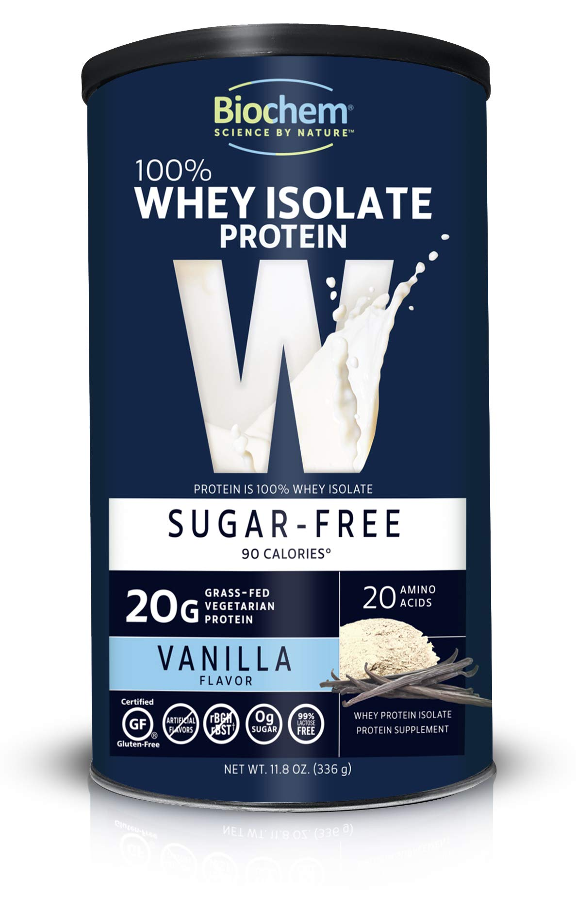 Biochem Sports Whey Protein Powder Sugar Free Vanilla - 13.7 oz