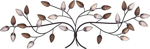 Patton Wall Decor Bronze Tree Branch with Gold and Silver Leaves Metal Wall D cor