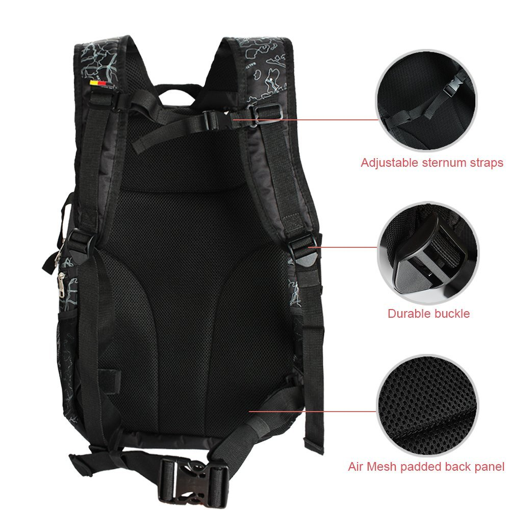 8fa298a4ded0 Amazon.com   Hiking Backpack Travel Daypack Gym Sports Backpack with Shoe  Compartment for Hiking Camping Traveling Yoga Sports   Sports   Outdoors