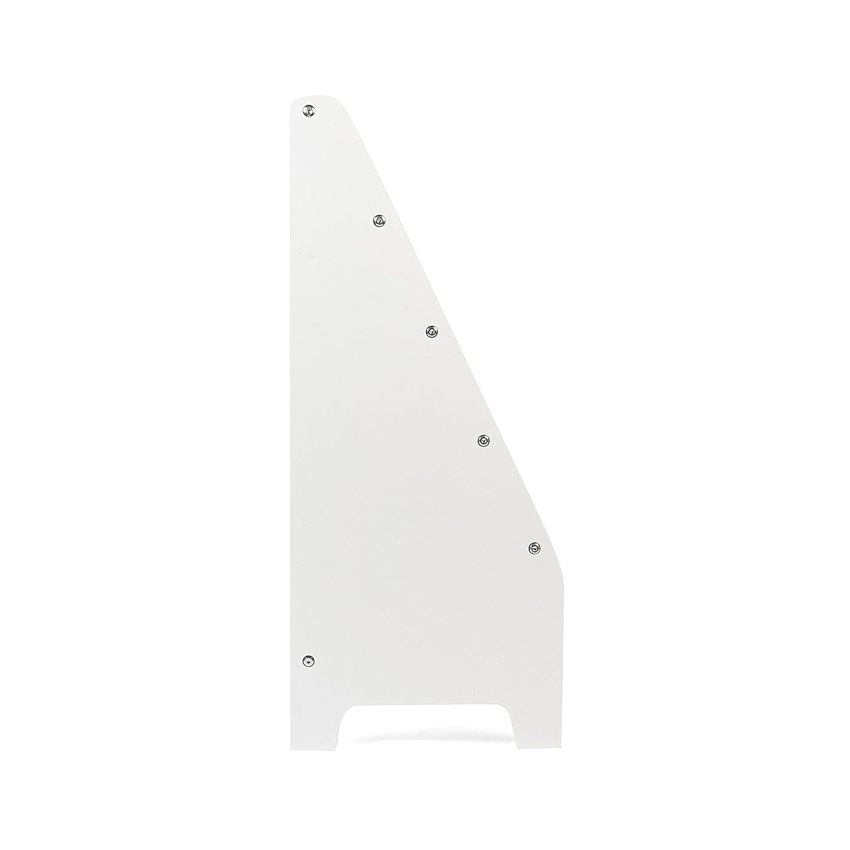 Kledio Etag/ère Enfants en bois avec Compartiments en blanc Biblioth/èque parfaite pour une Chambre denfant /Étag/ère en bois avec 3 inserts en tissu pour Livres et Magazines