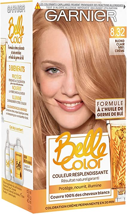 Garnier Belle Color Coloration permanente 8.32 Blond Clair Miel