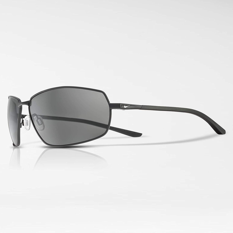 8f555ef42 Amazon.com: Nike Men's Pivot Eight Rectangular Sunglasses, Satin Black, 63  mm: Clothing