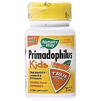 Nature's Way, (3 Pack) Primadophilus, Kids, Orange, 3 Billion CFU, 30 Chewable Tablets