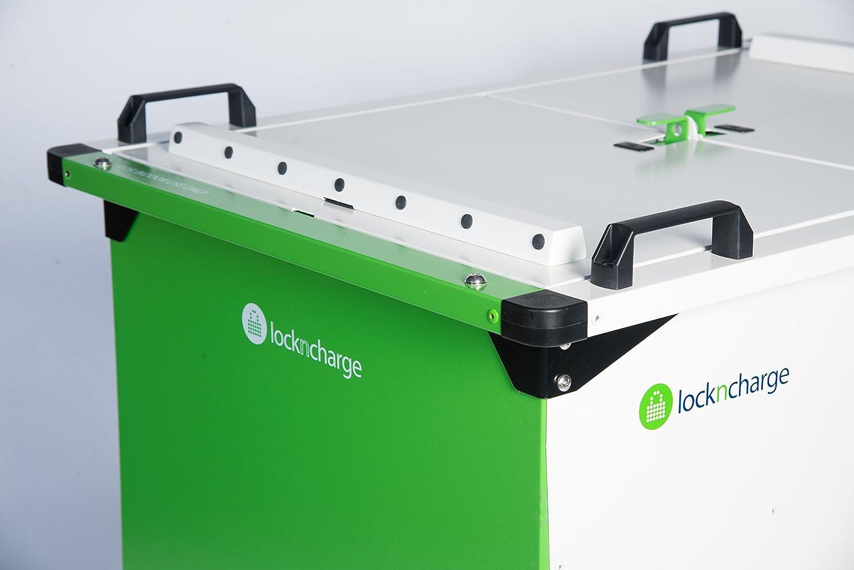 LocknCharge 10147 Joey 40 Cart Green//White