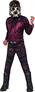 Guardians of the Galaxy Vol. 2 Children's Deluxe Muscle Chest Star-Lord Costume, Small