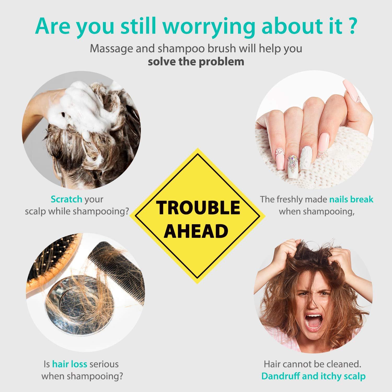 Verigle Hair Scalp Massager Shampoo Brush  1 Pack Silicon Soft Comb for Men Women Kids Pet Perfect