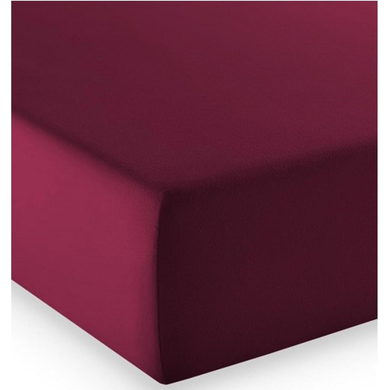Fleuresse Mako-Jersey-Spannlaken comfort Farbe pflaume 4074 Größe  200 x 200 cm