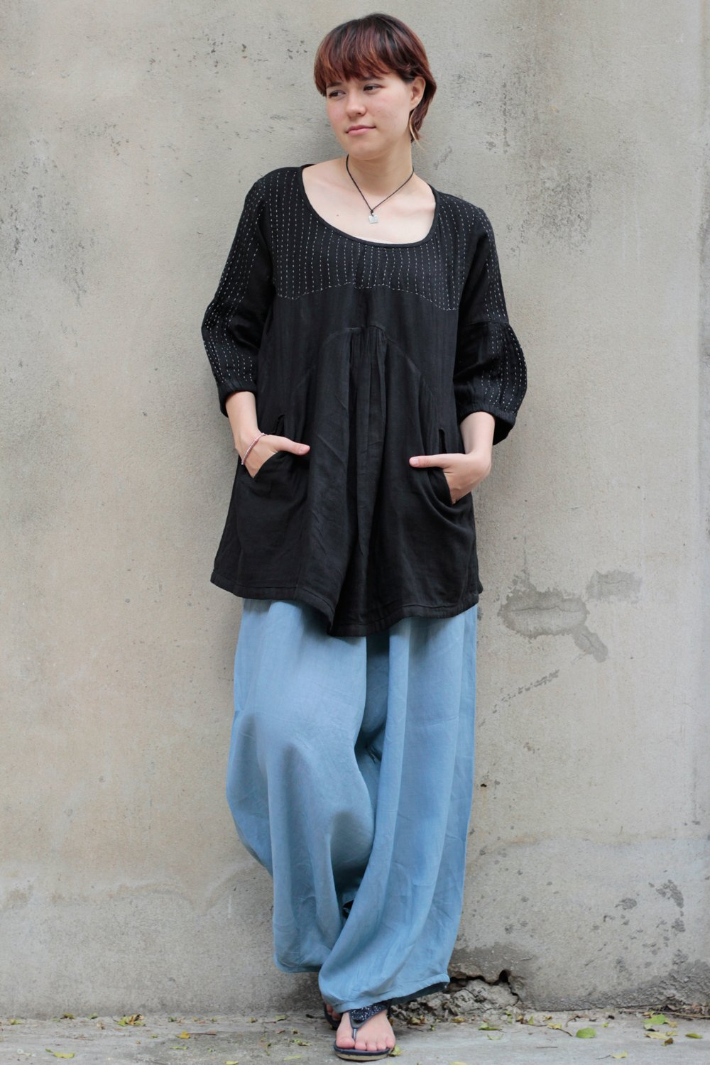 Full length Linen 135A Pants Harem Pants/Summer Pants