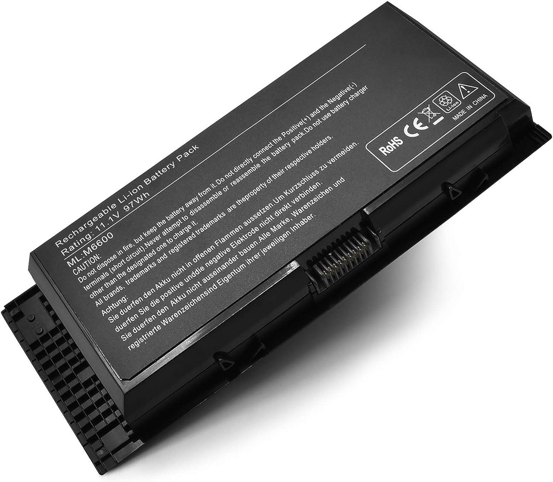 97WH M6600 FV993 Laptop Battery for Dell Precision M4600 M4800 M6800 M4700 M6700 FJJ4W KJ321 PG6RC V7M28 R7PND 7DWMT JHYP2 K4RDX Series -11.1V 9-Cell