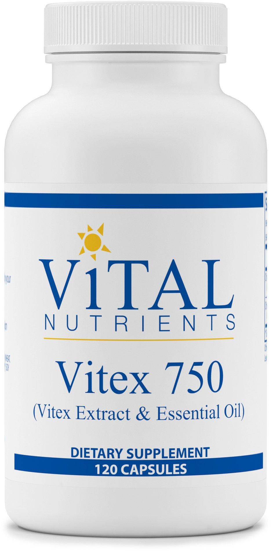 Vital Nutrients - Vitex 750 (Vitex Extract & Essential Oil) - Female Hormone Support - 120 Capsules