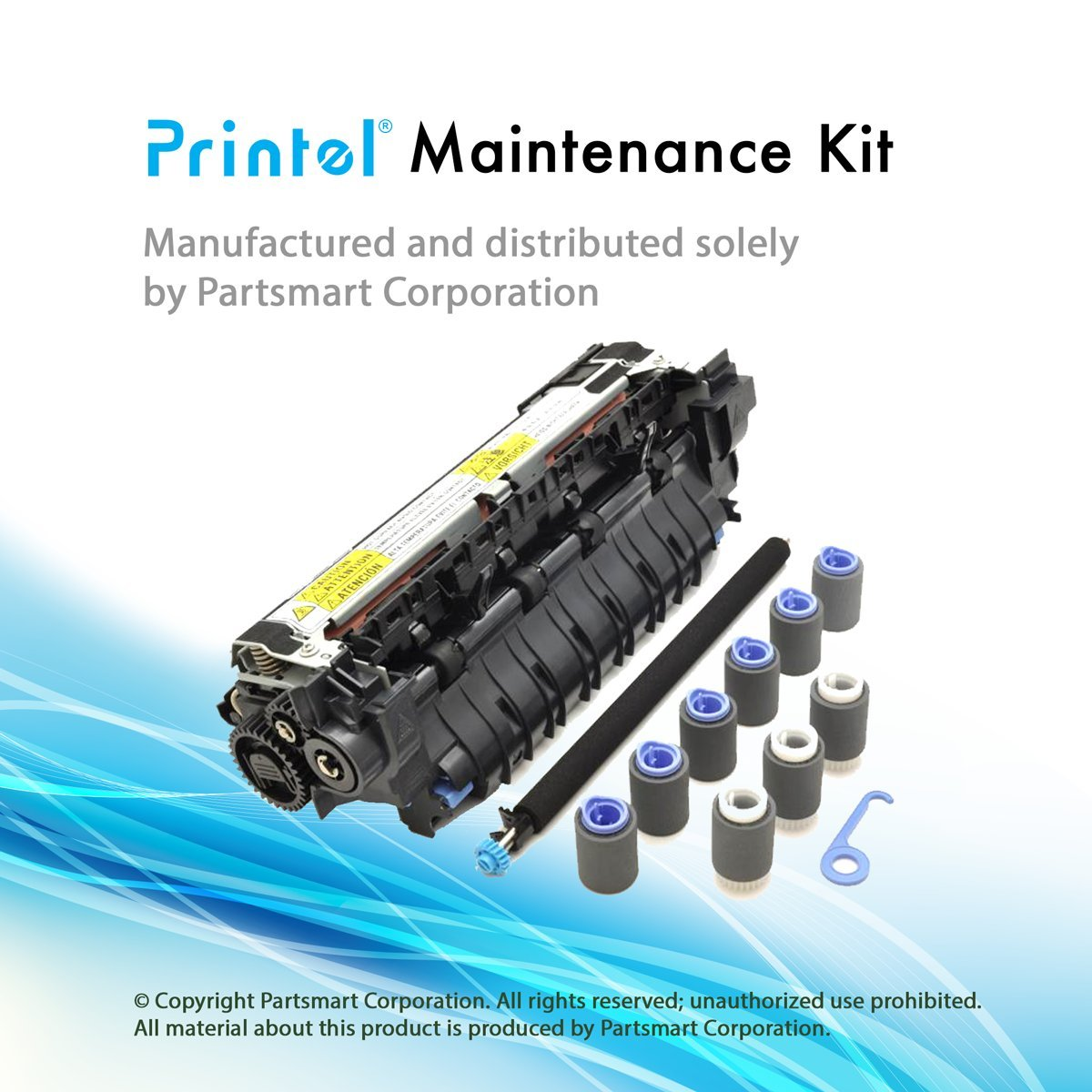 Printel Compatible CF064A Maintenance Kit (110V), Used with HP Laserjet Enterprise 600 M601, M602, M603, with RM1-8395 fuser Included by Printel