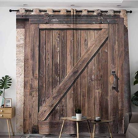 VIVIDX - Cortinas para sala de estar, decoración rústica, colección de casas de campo con arbustos, árbol