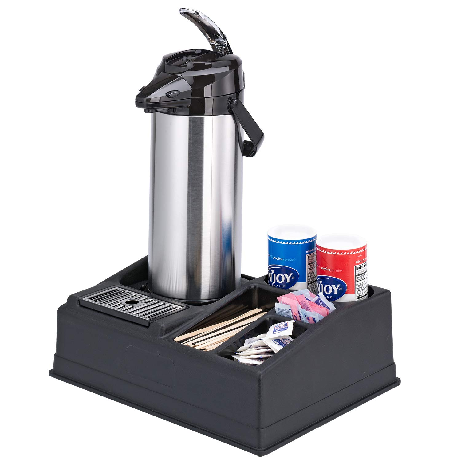 Service Ideas APR15BL Airpot Stand and Condiment Station, Holds 1 Airpot-5 Condiments, Black Plastic by Service Ideas (Image #4)