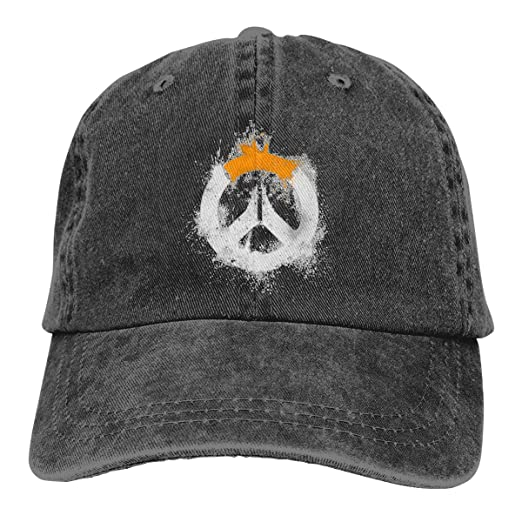 09fa29f7 Image Unavailable. Image not available for. Color: Funny Cap Overwatch Logo  Denim Baseball ...
