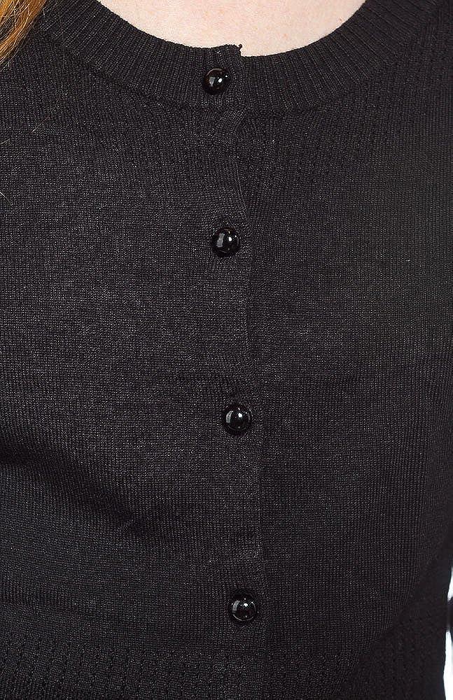Sourpuss Long Sleeve Pointelle Cardigan Black