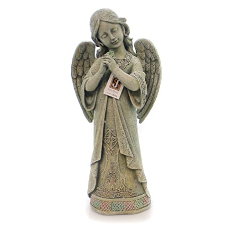 Garden Collection, Praying Celtic Angel Statue, 15.75 H