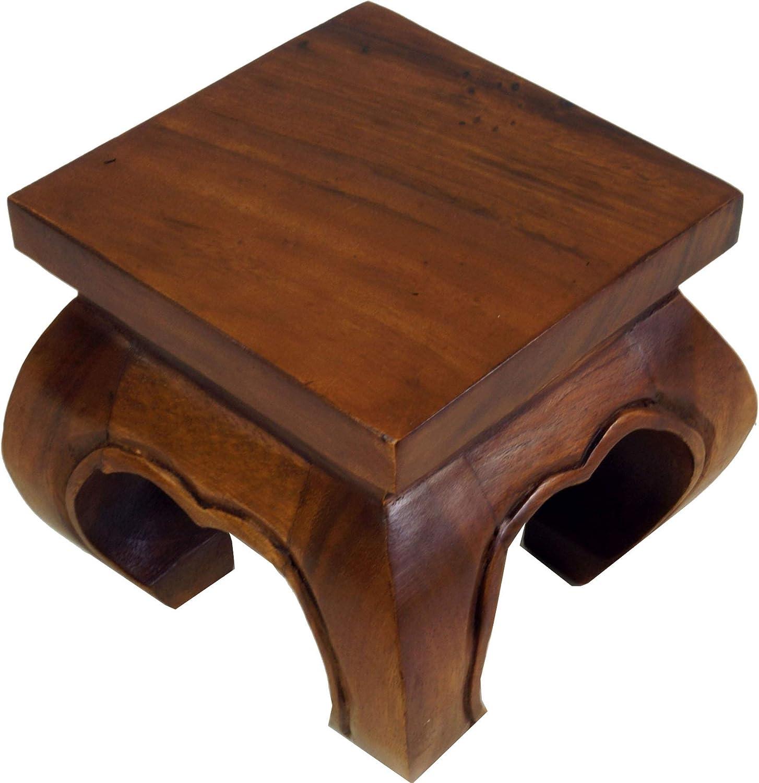 Guru-Shop Table /à Opium Banc en Bois Massif Marron 35x35 cm Tables Basses Table /à Th/é