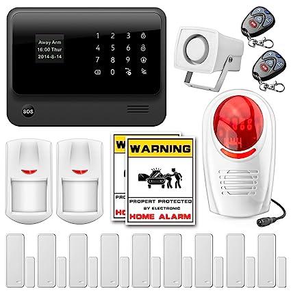 Fuers – g90b Kit sistema de alarma casa de seguridad inalámbrica Wifi gms, sirena interior