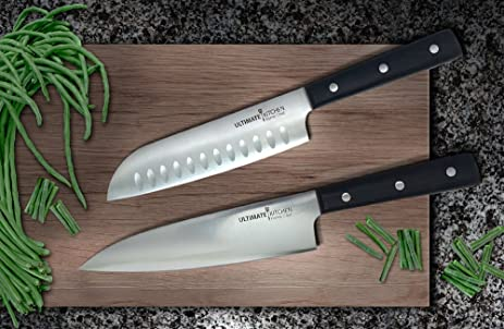 Ultimate Kitchentrade HOME CHEF 8 Chef Knife 7 Santoku Set