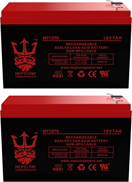 Charity Battery CB1270 12V 7AH SLA Battery Replaces gp1272 np7-12 bp7-12 npw36-12 ps-1270 ub1280-2 Pack