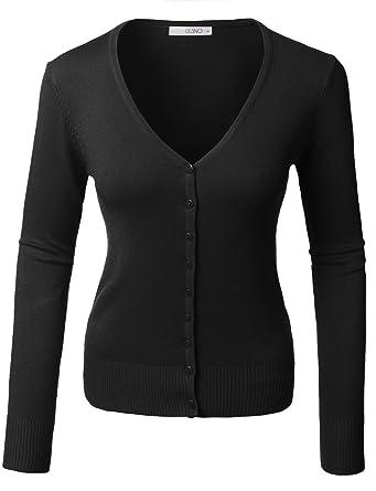 LE3NO Womens V Neck Raglan Cardigan Sweater (XS-2XL) at Amazon ...