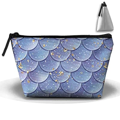 NCFTVO Trapezoid Cosmetic Bags Brush Pouch Star Fish Scales Makeup Bag Zipper Wallet Hangbag