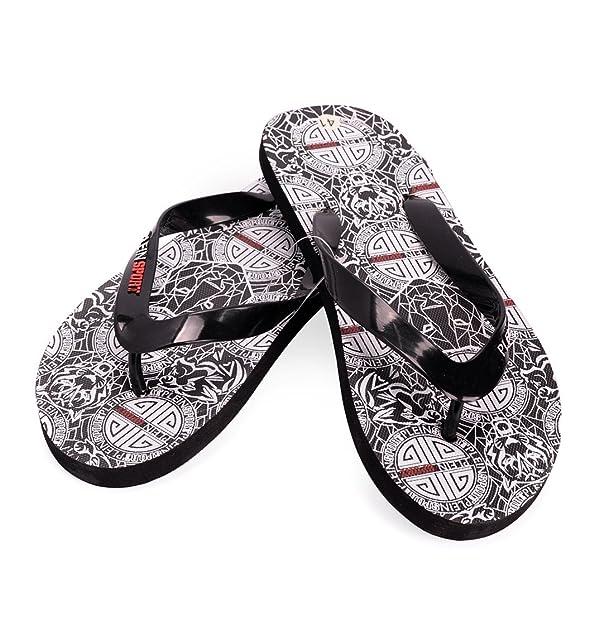 Plein Sport Parish Herren Men Flip Flops Zehentrenner Beach Sandals Schwarz  Black: Amazon.de: Schuhe & Handtaschen