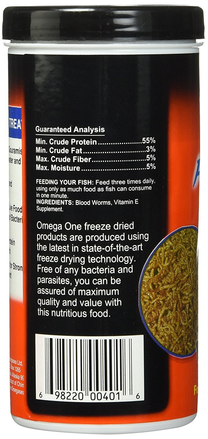 (3 Pack) Omega One Freeze Dried Blood Worms 0.96oz by Omega One (Image #3)