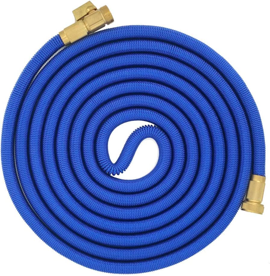 SHANYUR Garden Watering Hose Expansion Magic Telescopic Hose flexible High Pressure Car Wash Hose Water Gun Set For the garden,25ft,black Blue