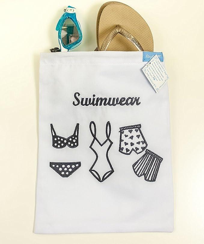 Bolsa para bikini bañador húmedo impermeable forrada funda para natación 24 x 29 cm blanco de la marca Ringelsuse: Amazon.es: Equipaje