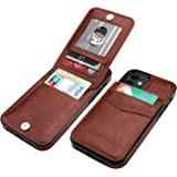 KIHUWEY Compatible with iPhone 12 Compatible with iPhone 12 Pro Case Wallet with Credit Card Holder, Premium Leather Magnetic