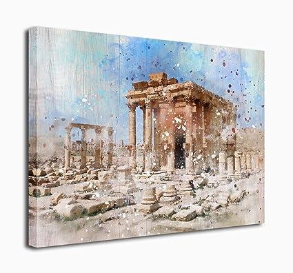 amazon com canvas prints wall art vintage greek temples relic