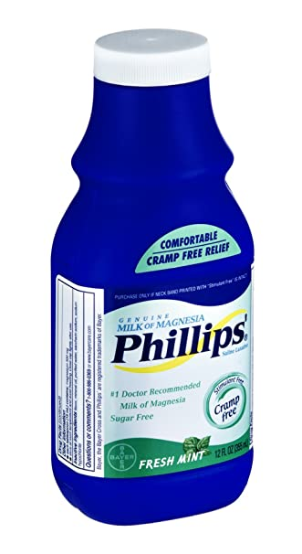 Phillips Milk of Magnesia, Fresh Mint 12 oz (Pack of ...