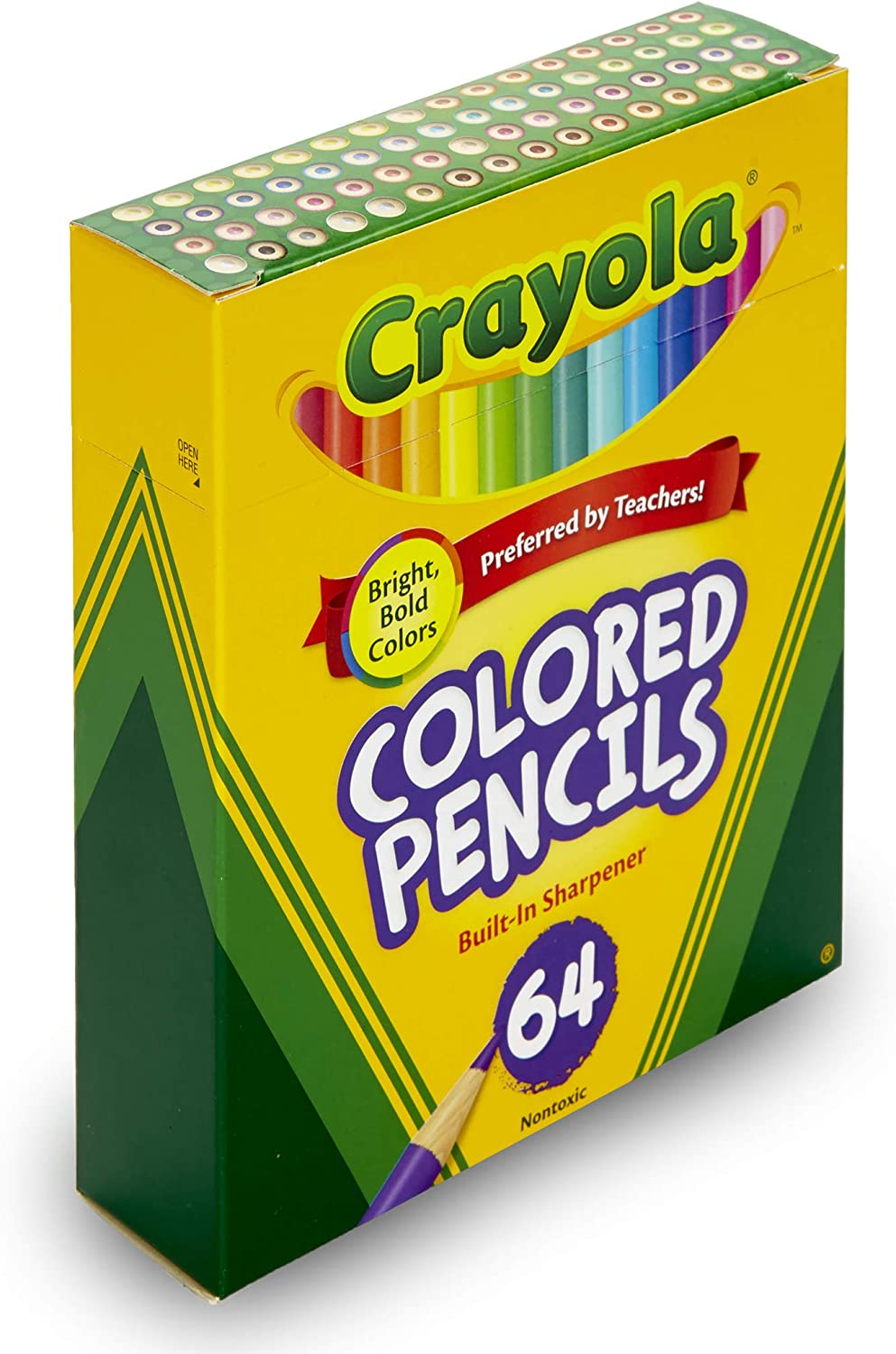 Crayola Mini Colored Pencils in Assorted Colors, Coloring Supplies for Kids, 64ct: Toys & Games