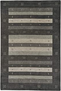 "product image for Gava Charcoal 9' 0"" x 12' 0"" Rectangle Hand Loomed Area Rug"
