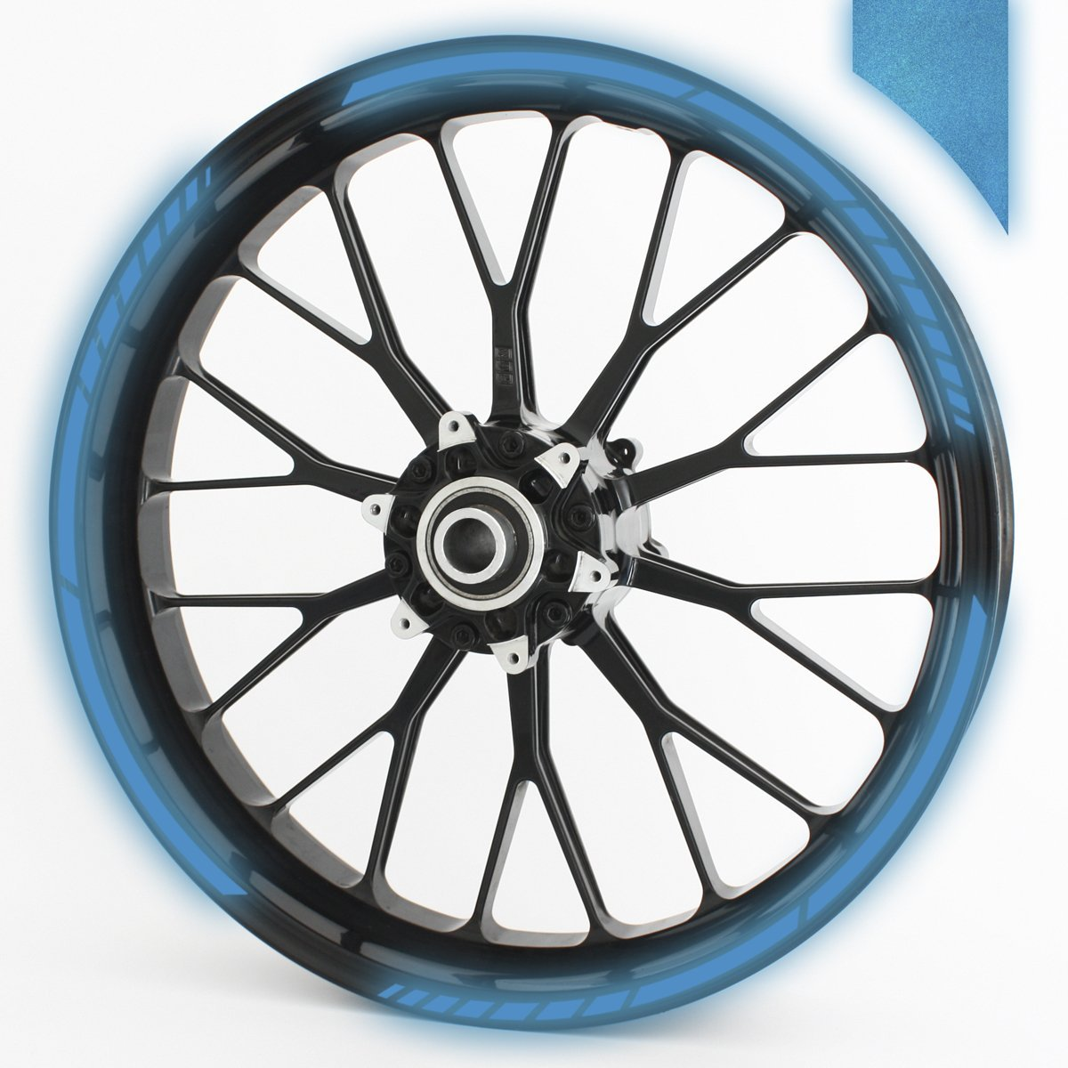 Wandkings GP wheel rim sticker for 15', 16', 17', 18' and 19' Motorcycle & Car Wheels - colour selectable - black reflective 16 17 18 and 19 Motorcycle & Car Wheels - colour selectable - black reflective