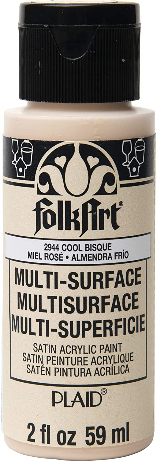 FolkArt 2944 Multi-Surface Acrylic Craft Paint, 2 oz, Cool Bisque