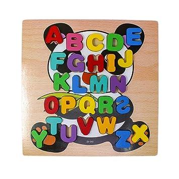 Tootpado Wooden Alphabet Puzzle Board - Panda (1TNG281)