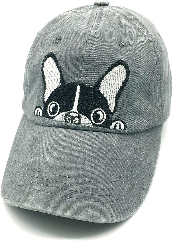 Waldeal Men's Embroidered Boston Terriers Baseball Cap Adjustable Vintage Dad Hat