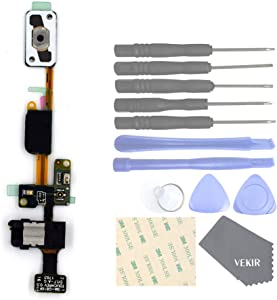 VEKIR Cell Phones Replacement Parts for Samsung Galaxy J7 Prime G610F Induction Key Flex Cable + Home Button Function + Headphone Jack Flex Cable