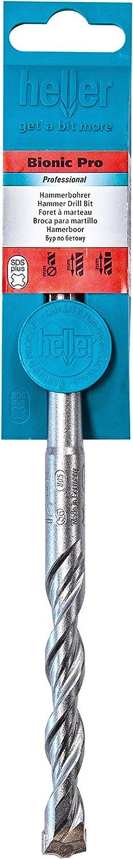 Heller 22016 Bionic Pro SDS-plus Hammerbohrer Gesamtl/änge: 160 mm 4 x 100 1 V Arbeitsl/änge: 100 mm Durchmesser: 4 mm