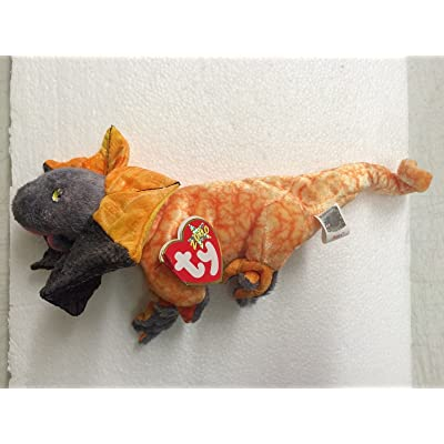 Ty Beanie Babies Slayer the Frilled Dragon Plush Doll: Office Products