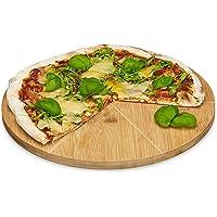 Relaxdays Plato para Pizza, Redondo, Resistente, Porciones Uniformes
