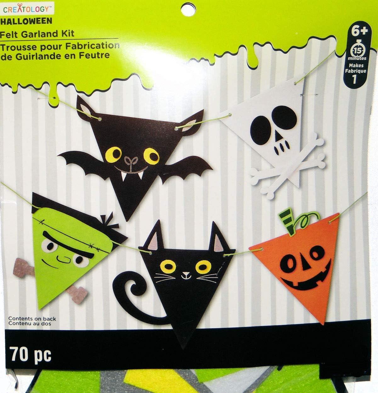 Amazon Halloween Felt Banner Activity Craft Kit Bat