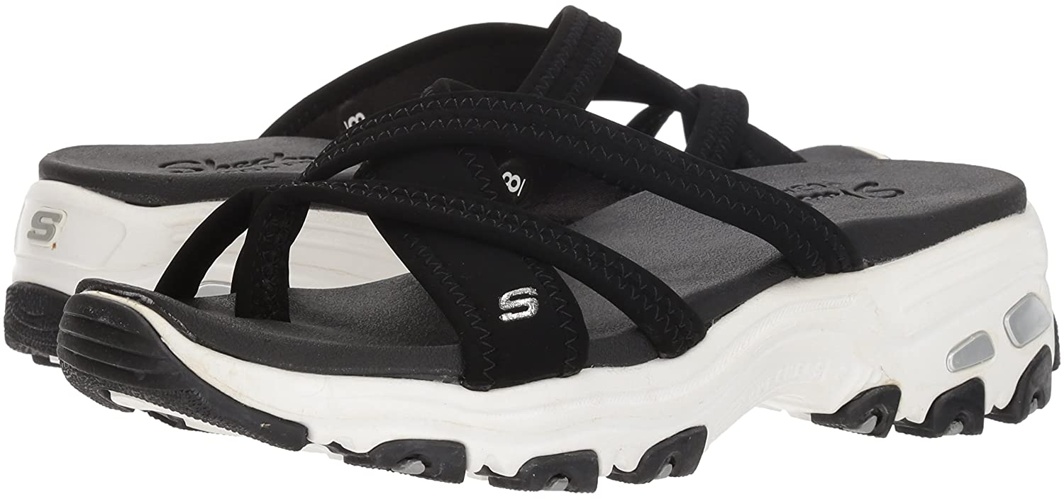 Skechers Cali Womens DLites-Think Fast Sport Sandal, Black ...