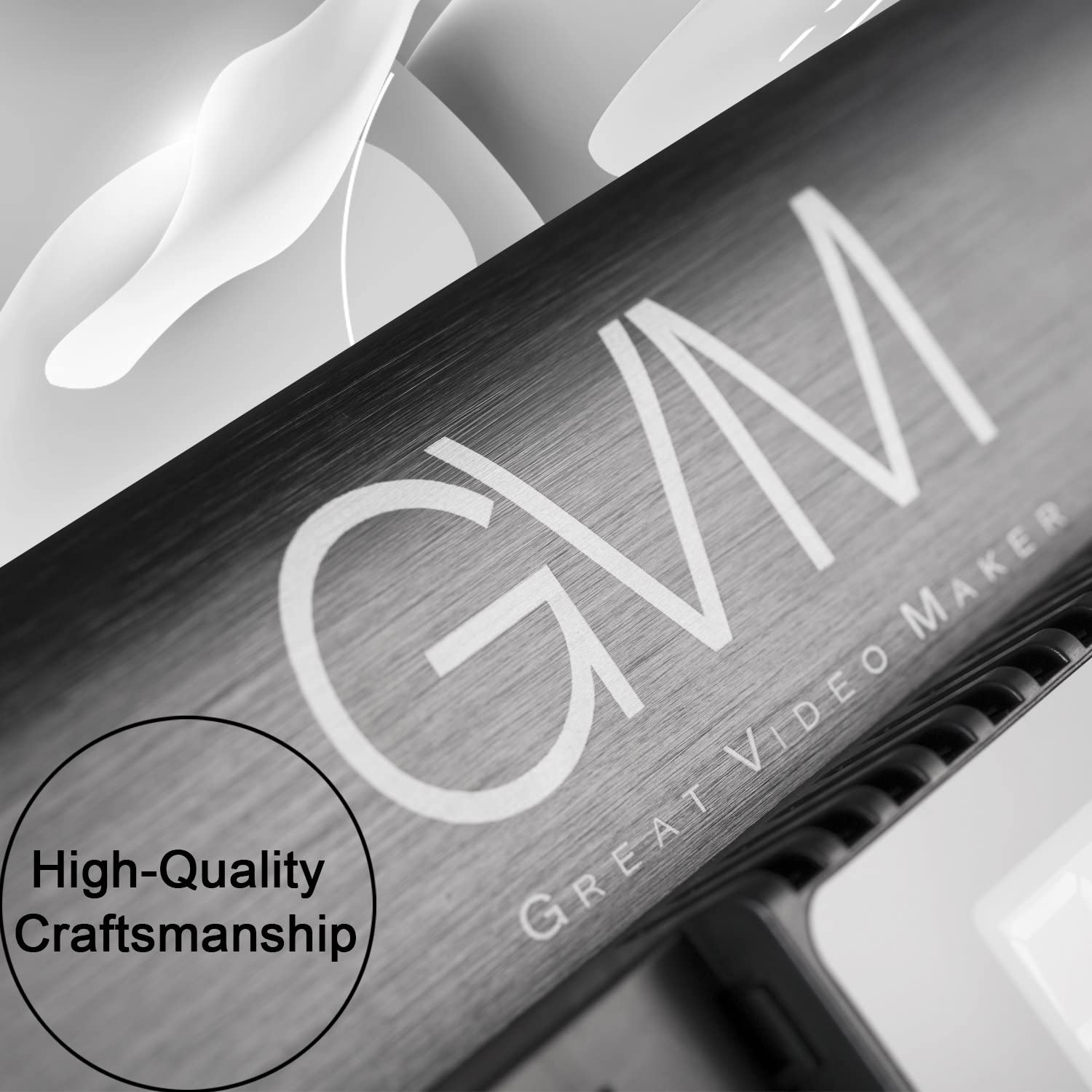 GVM Dimmable Bi-color LED Video Panel Light 2300~6800K For Studio Interview CRI97 Brightness of 10~100/% Metal Housing Outdoor Video Photography Lighting Kit 29W 480LS
